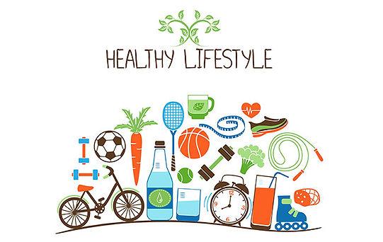 Symbols representing healthy living