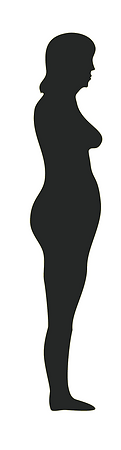 Black silhouette of lady