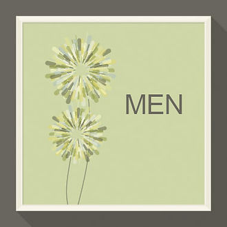 Picture frame with page title - men too!