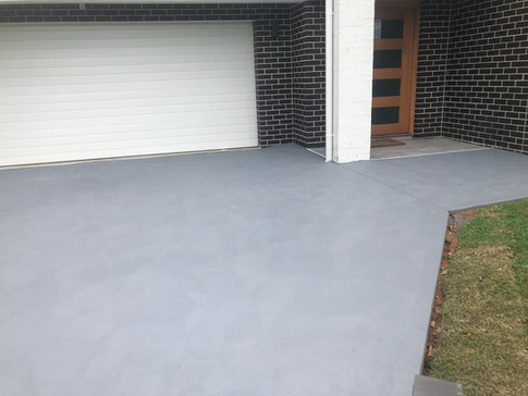 Mason Concreting - Northern Beaches - Driveway - Coloured Concrete - Frenchs Forest