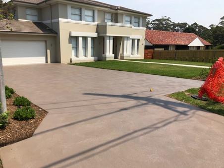 Coloured Concrete Driveway - Mason Concreting