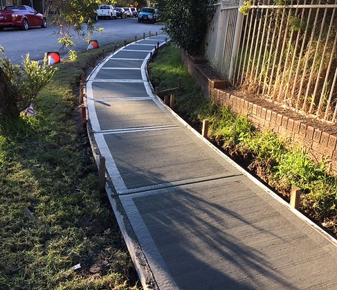Mason Concreting Norther Beaches Council contractor. Pathways, council property. Northern Beaches, Sydney