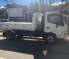 Mason Concreting tip truck and driver hire. Northern Beaches, Sydney