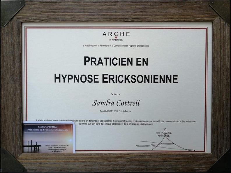 diplome de praticien en hypnose erickson