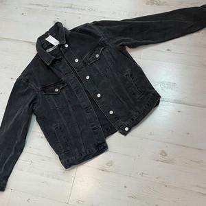 ג'קט ג'ינס בצבע שחור Top shop