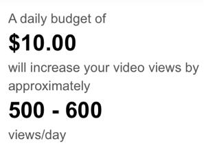 לכמה אנשים יגיע הוידאו בתקציב נתון