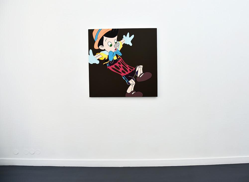 """Marron sur rose"" 100 x 100 cm © Ivan Fayard / Adagp, Paris"