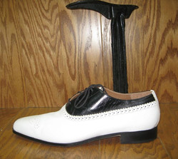 black and white mens shoe