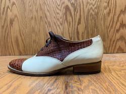 two tone dress shoe