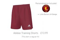 training kit shorts