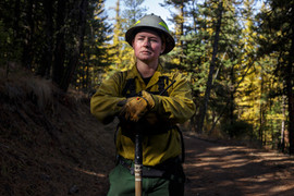 "confederated salish and kootenai tribe wild fire fighter lindsay burland roullier / elmo, montana / ""crossing the divide"" / the ground truth project"