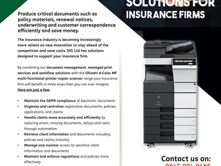 DIS, helping Insurance firms take care of critical documents