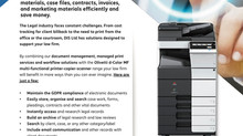 Olivetti d-Color range helping law firms stay GDPR compliant!