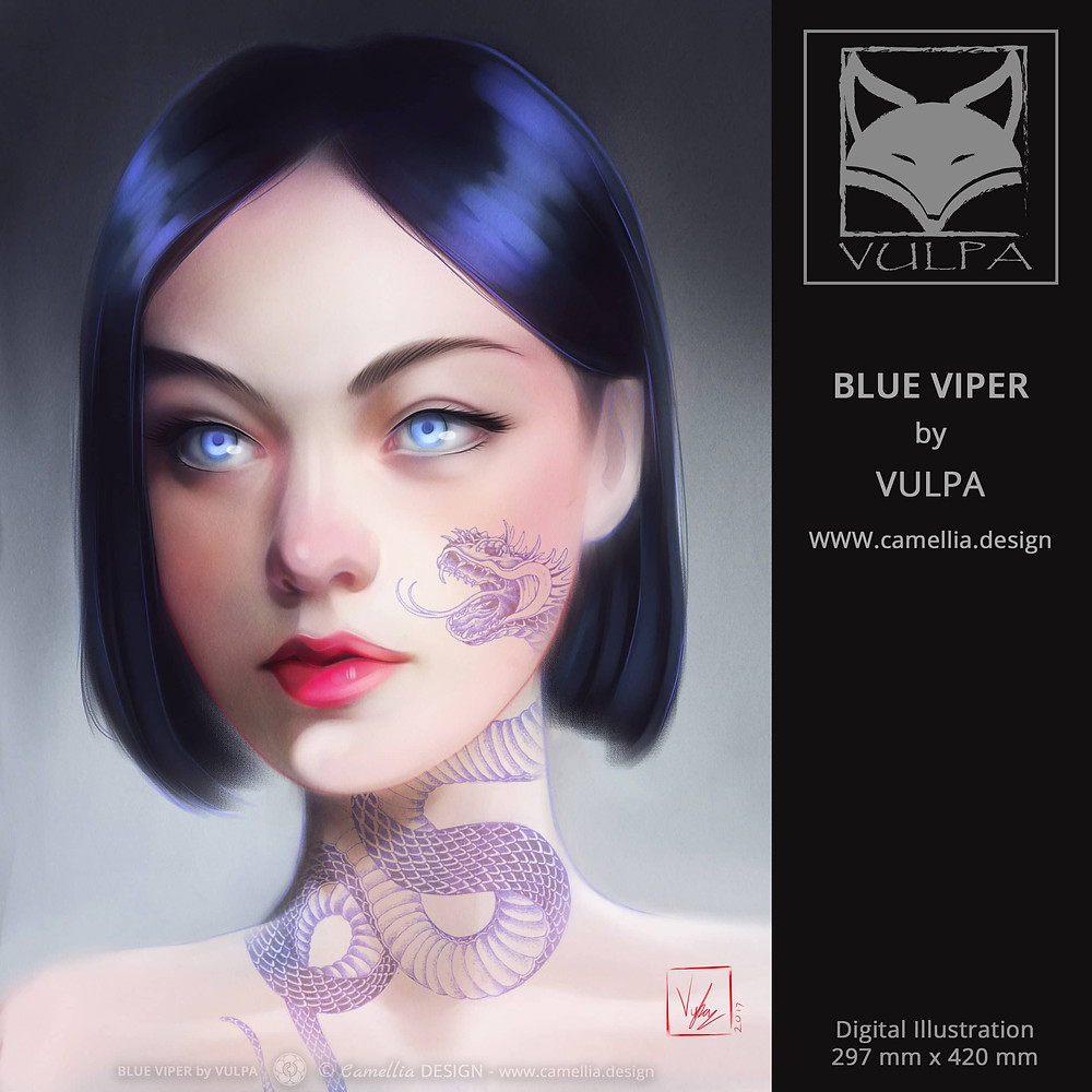 BLUE VIPER | digital illustration | artist VULPA | Free Download