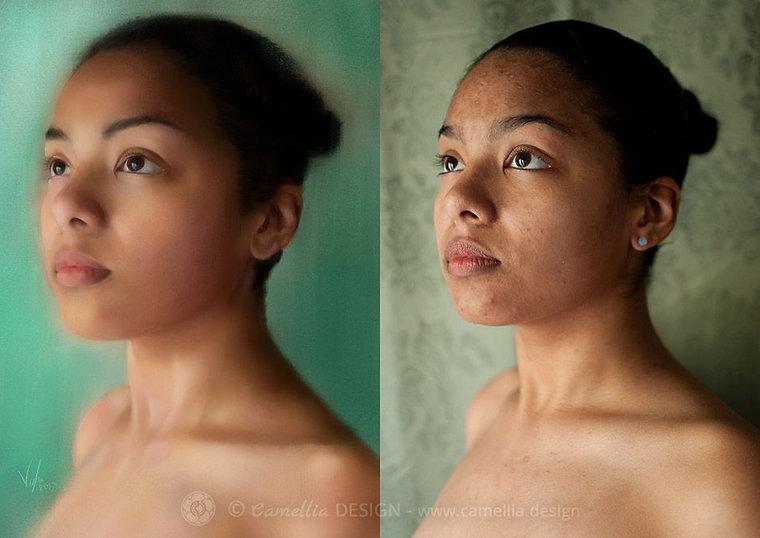 Luna Digital Portrait by VULPA