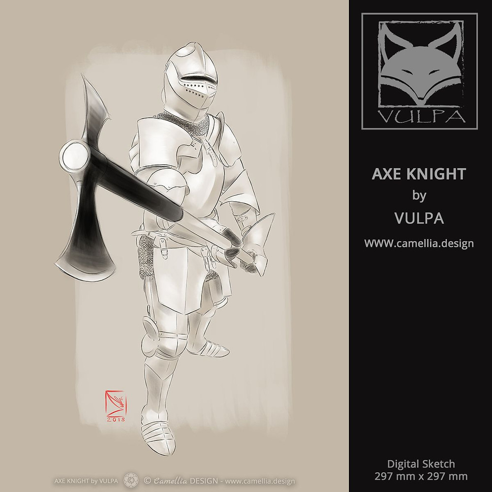 AXE KNIGHT | digital sketch by VULPA | Free Download