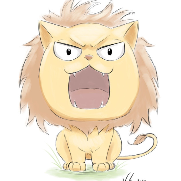 FIERCE LITTLE LION