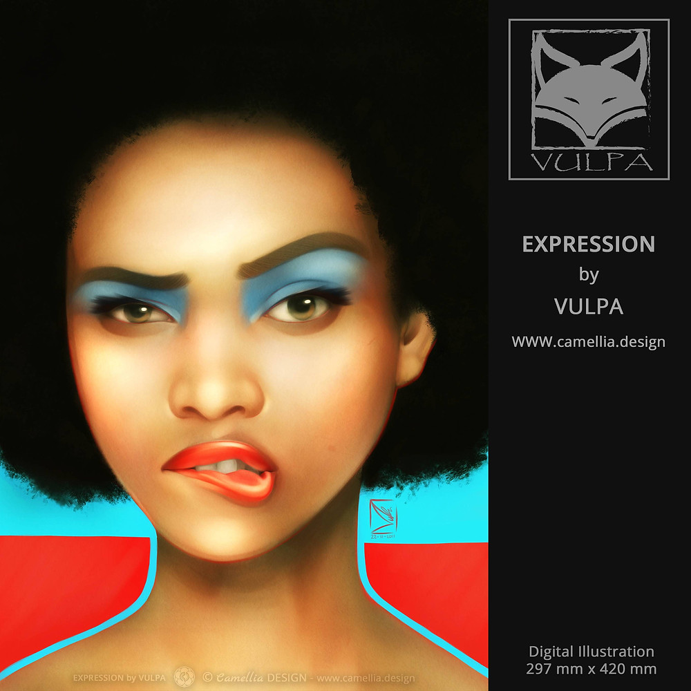 EXPRESSION | digital illustration | artist VULPA | Free Download