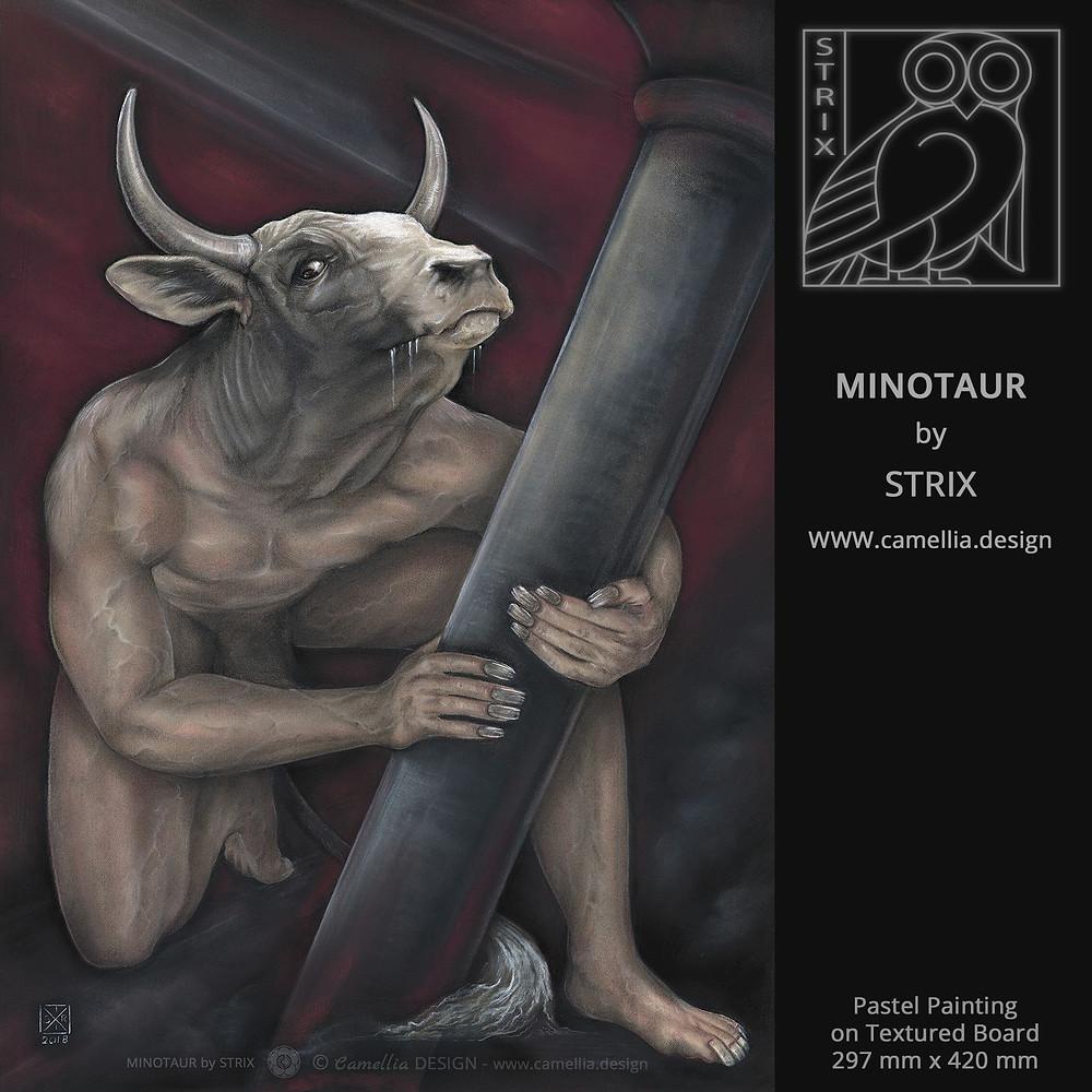 MINOTAUR | Pastel Painting by STRIX