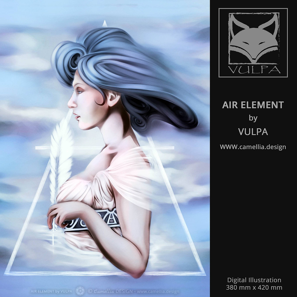 AIR ELEMENT | digital illustration | artist VULPA | Free Download