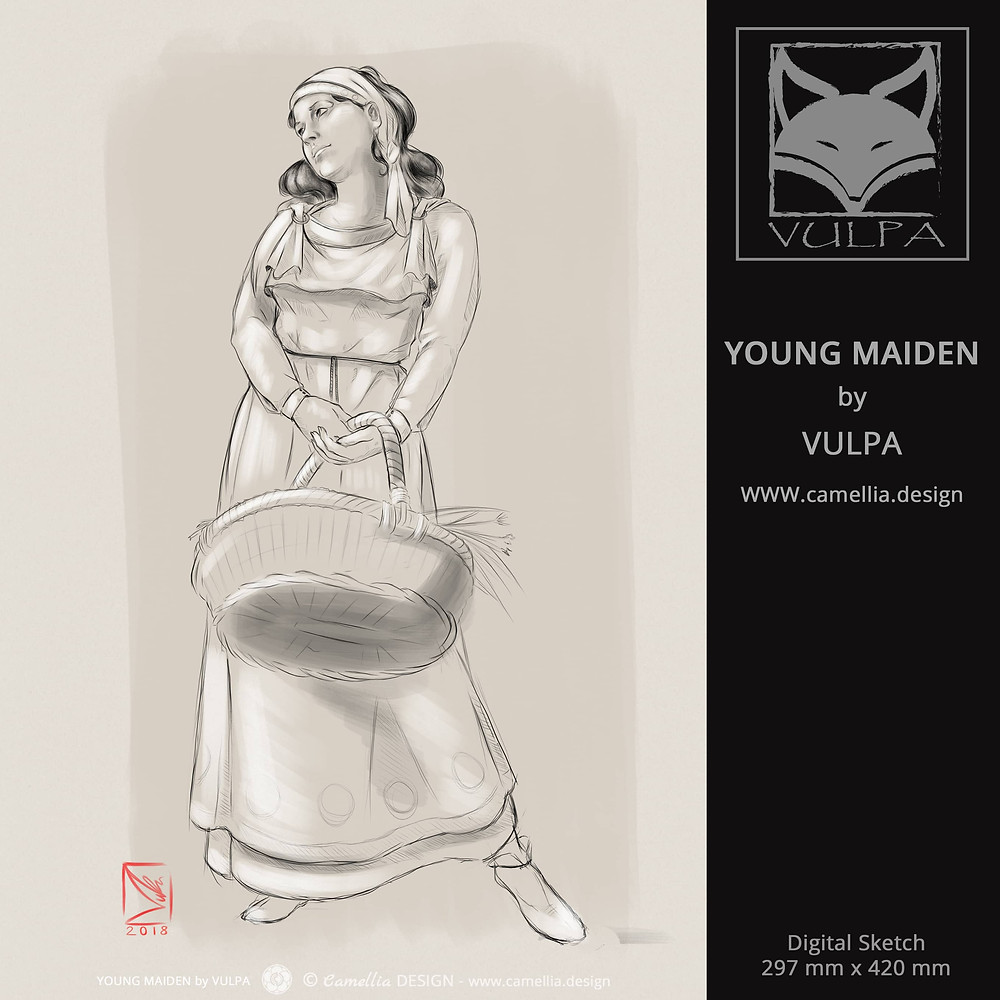 YOUNG MAIDEN | digital sketch by VULPA | Free Download