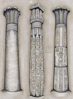 ANCIENT EGYPTIAN COLUMNS