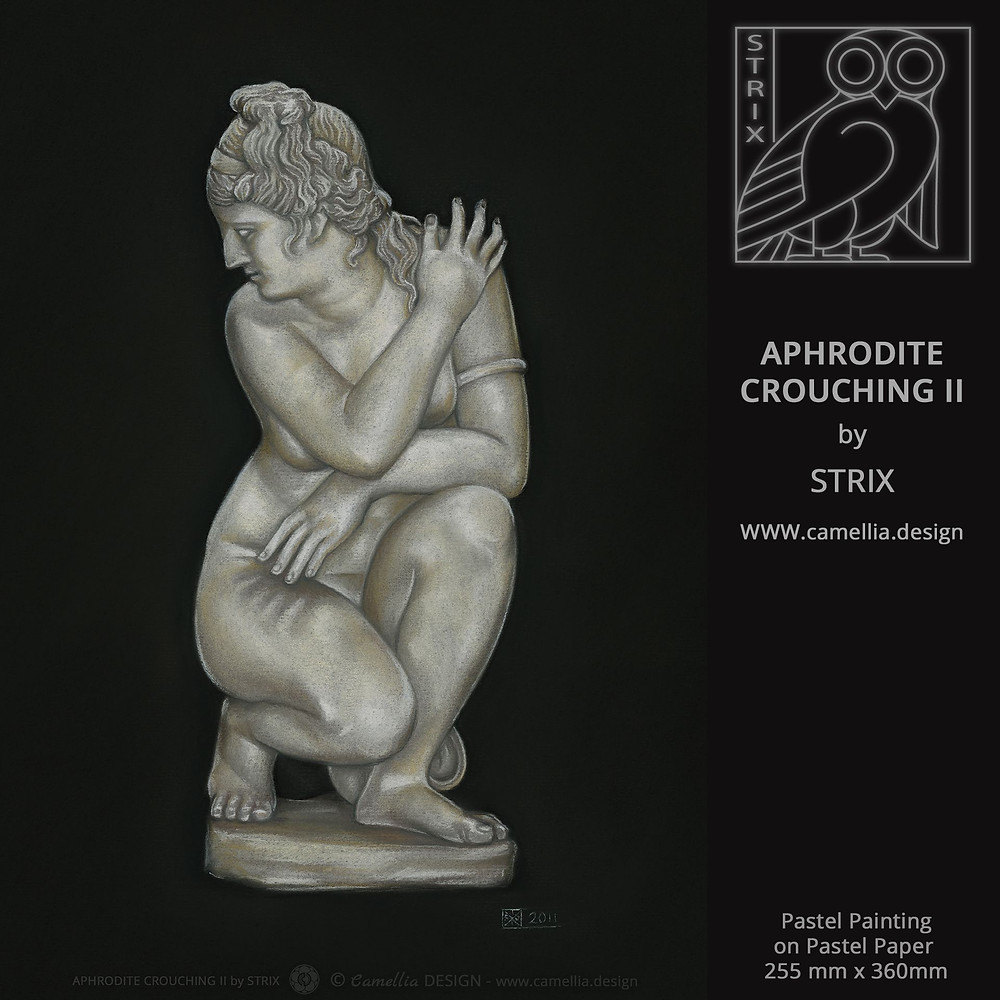 APHRODITE CROUCHING II | pastel painting by STRIX