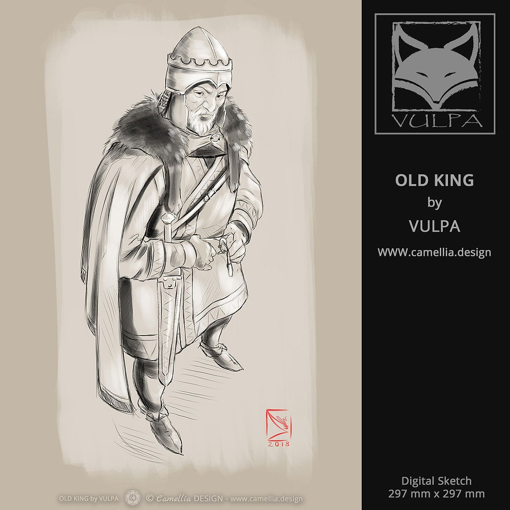 OLD KING | digital sketch by VULPA | Free Download