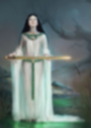 LADY OF THE LAKE digital painting by VULPA
