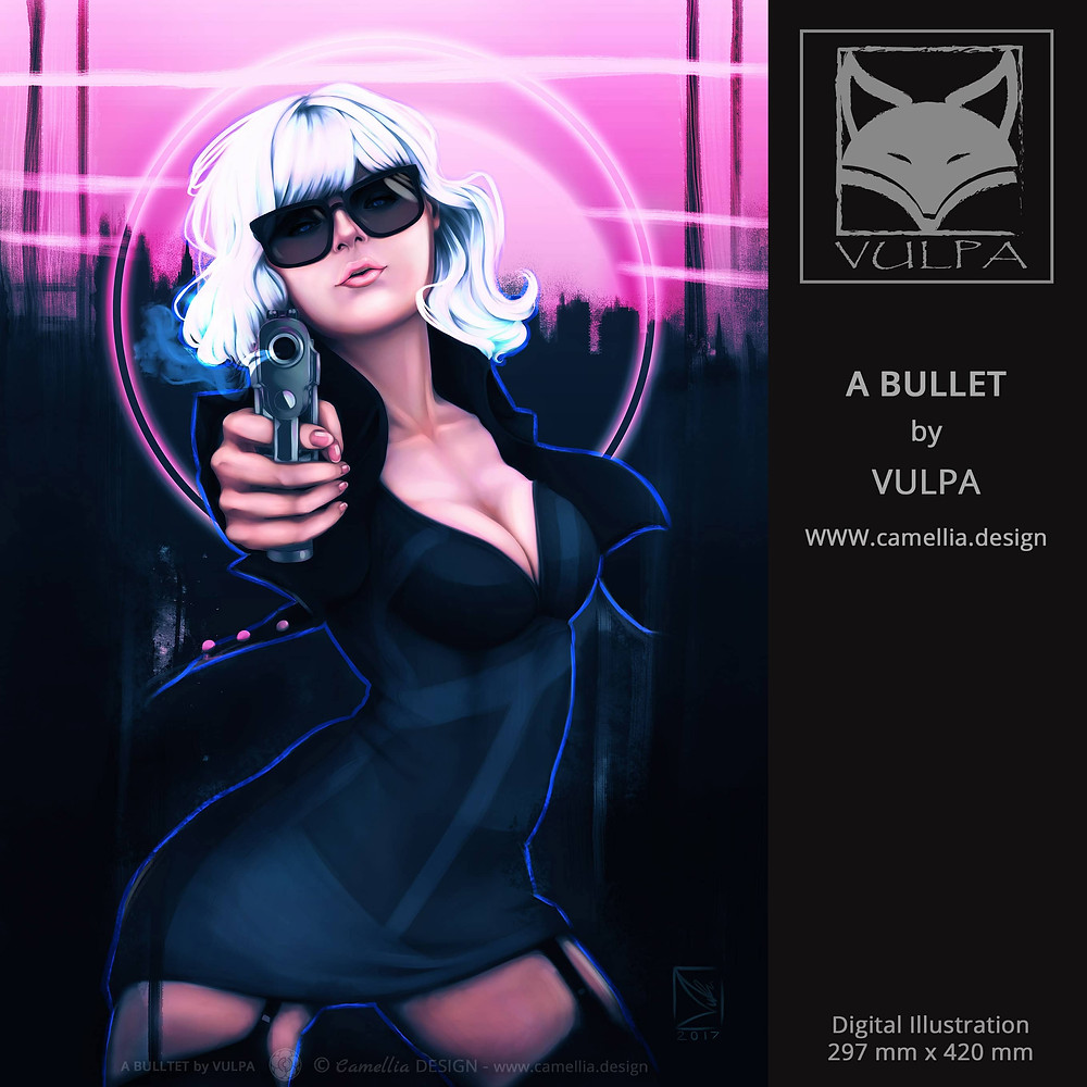 A BULLET | Digital grey scale guide | artist VULPA