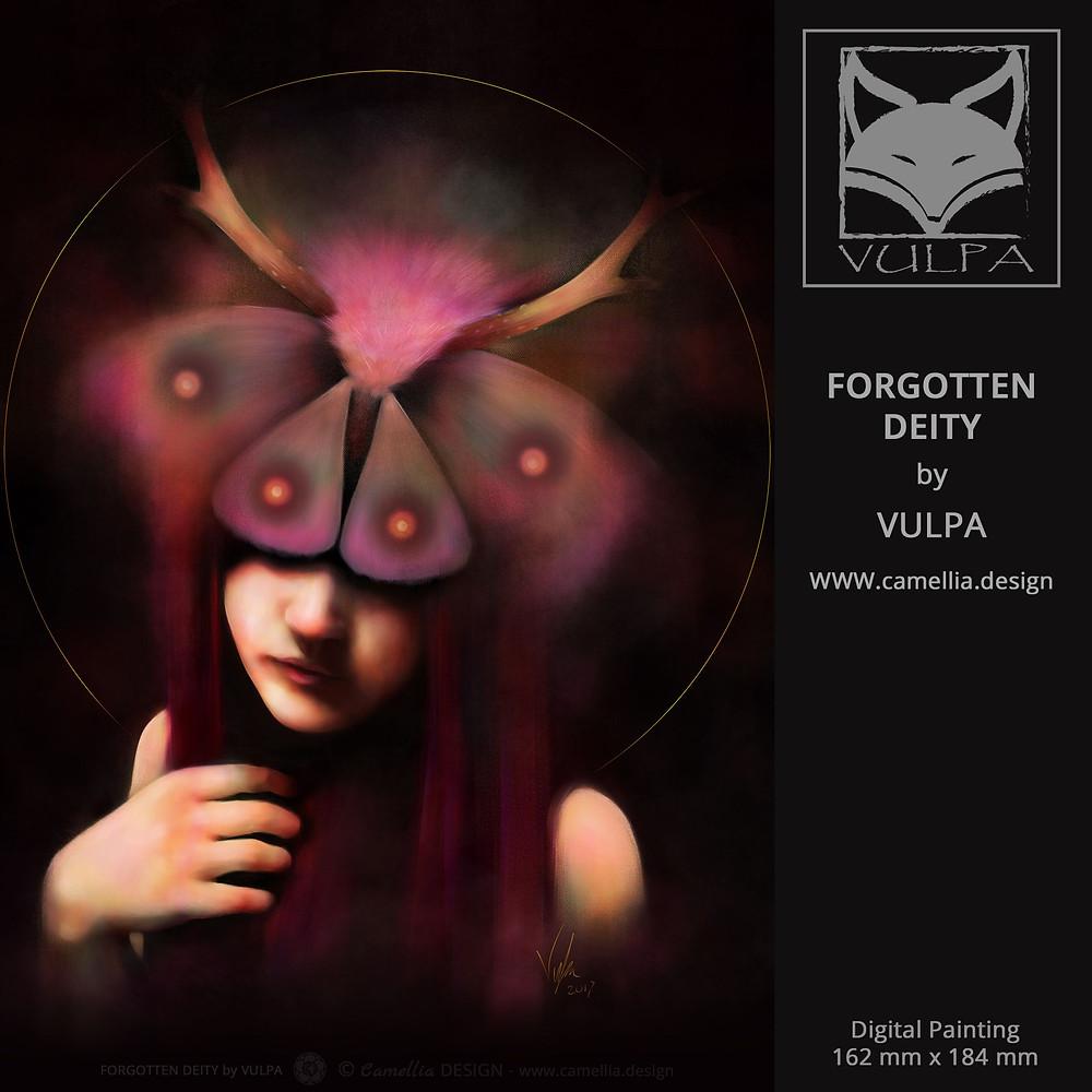 FORGOTTEN DEITY | Digital Painting by VULPA