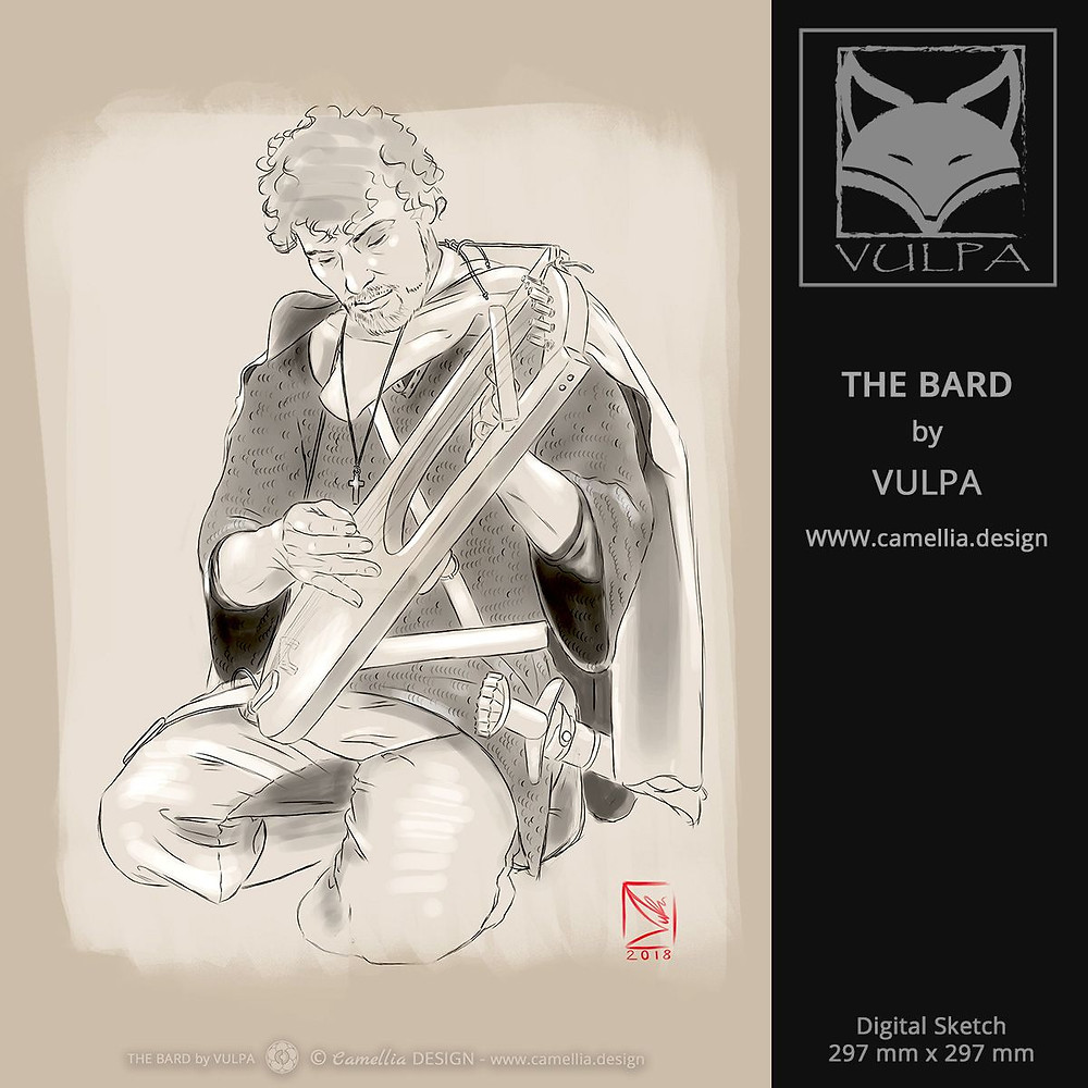 THE BARD | digital sketch by VULPA | Free Download