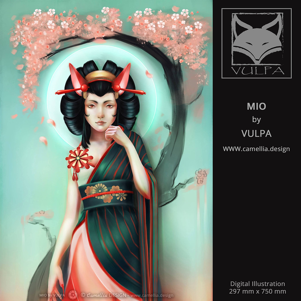 MIO SANBI NO KITSUNE | digital illustration | artist VULPA | Free Download