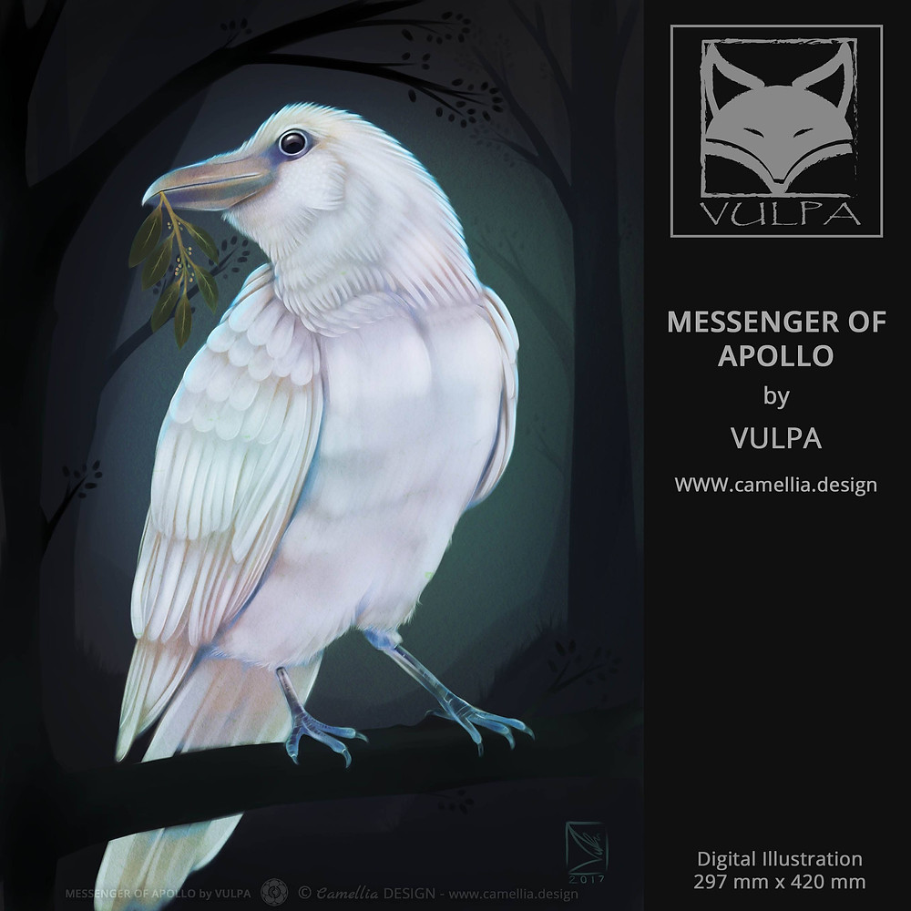 MESSENGER OF APOLLO | digital illustration | artist VULPA | Free Download