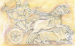 ASSYRIAN LION HUNT