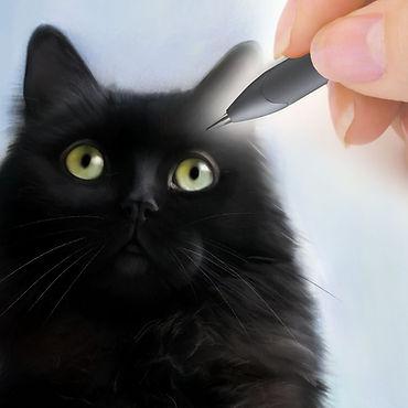Digital pet portrait commission from CAMELLIA DESIGN