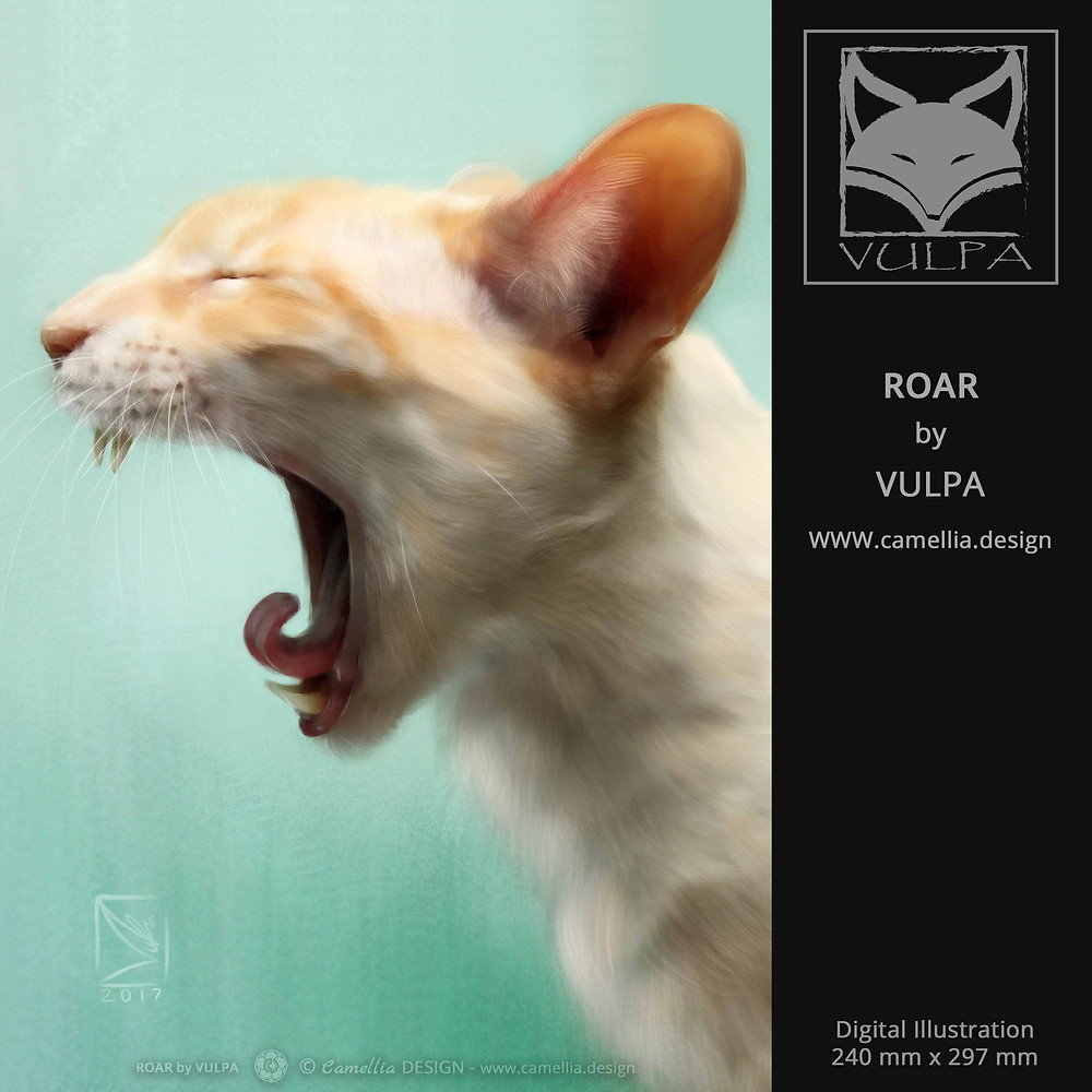 ROAR | digital illustration | artist VULPA | Free Download