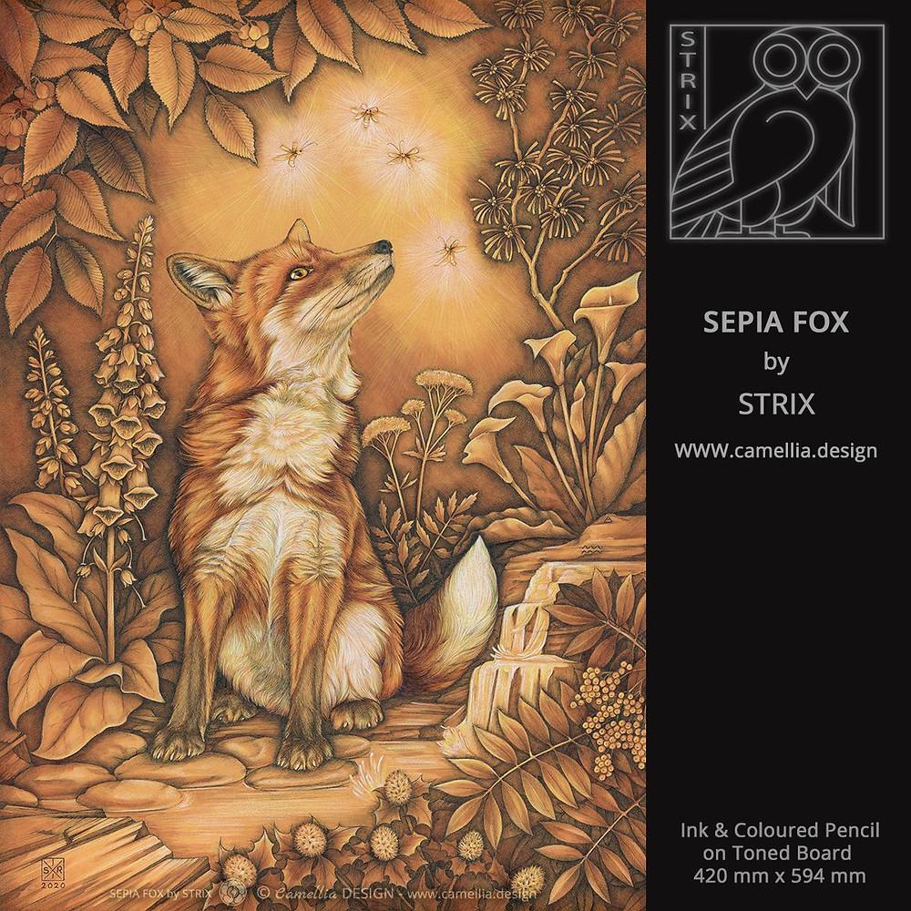 SEPIA FOX | Symbolic portrait by STRIX