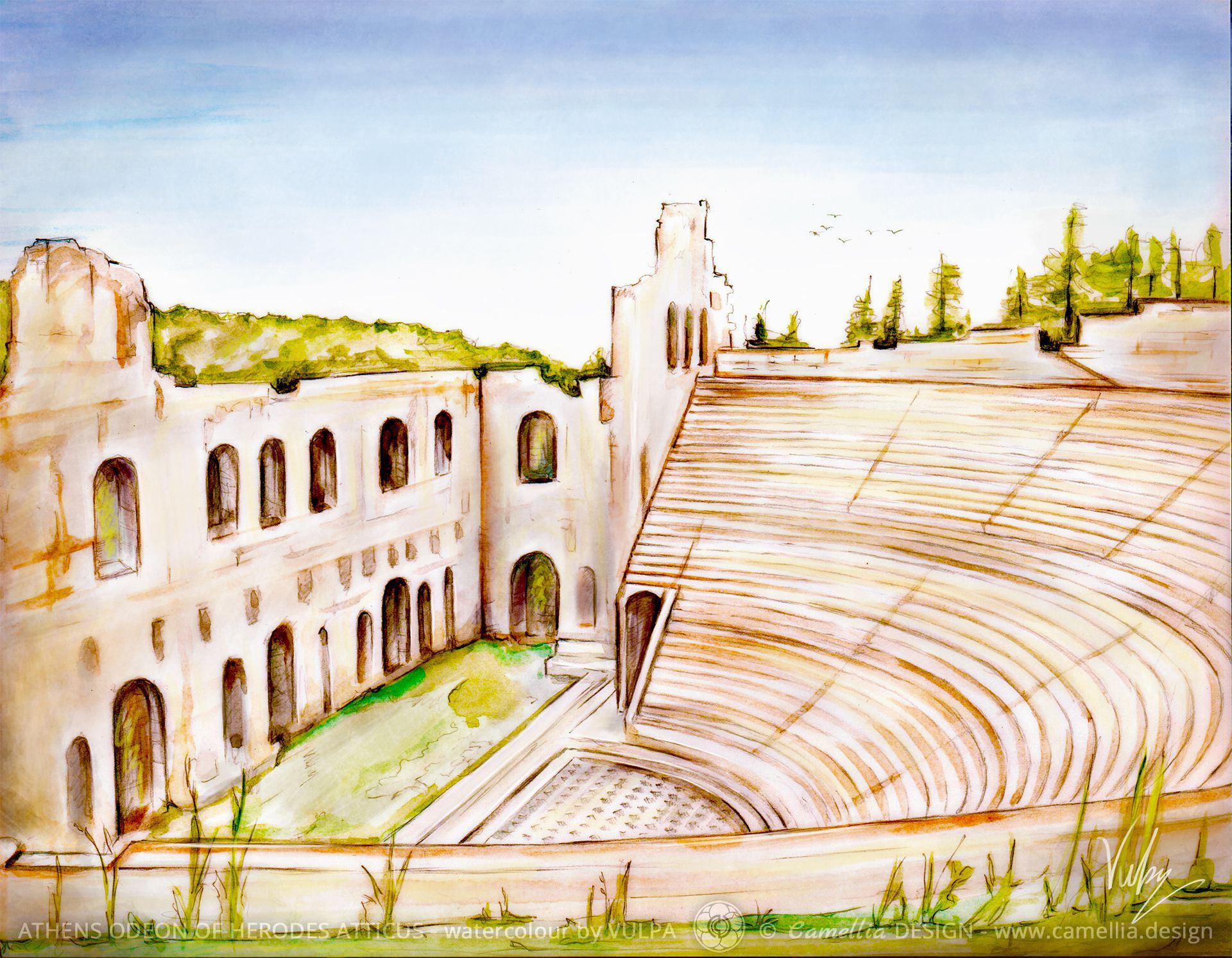 ATHENS ODEON OF HERODES ATTICUS