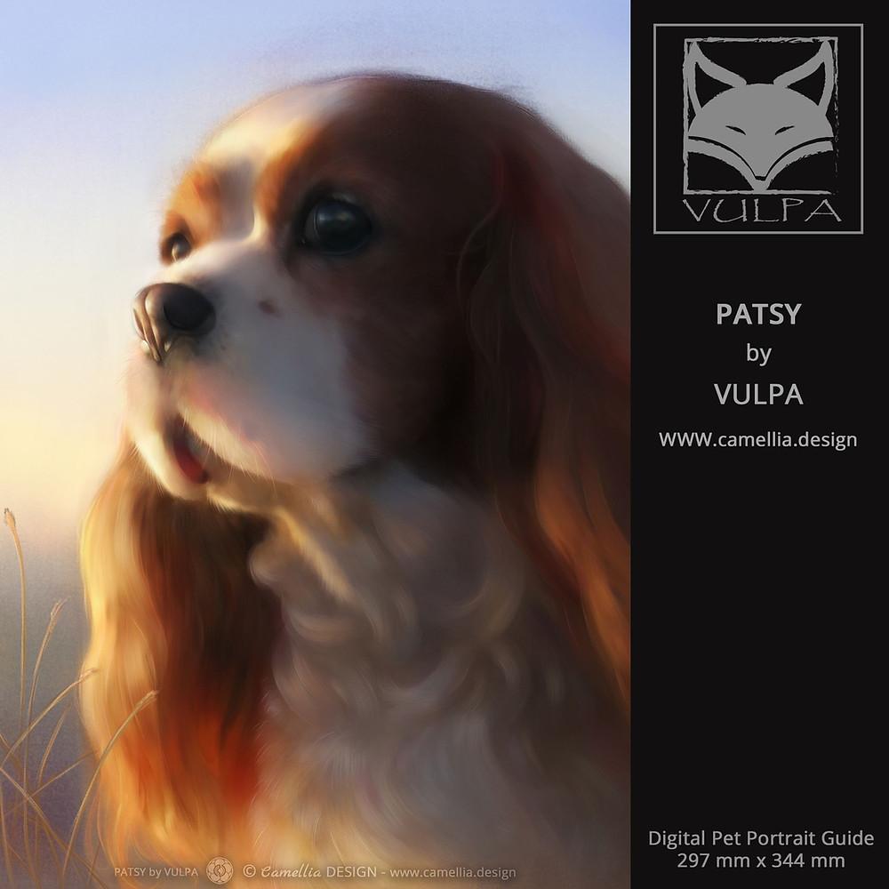 PATSY | Digital pet portrait guide by VULPA