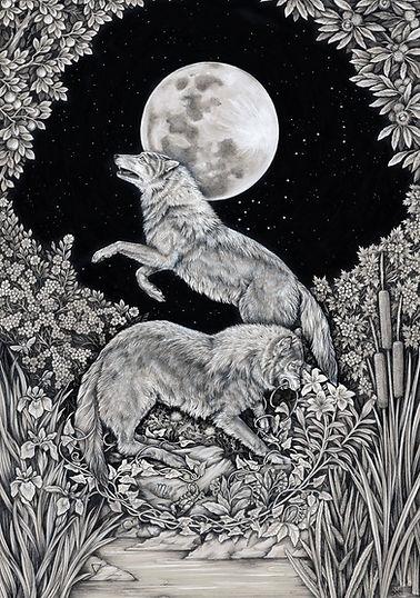 WOLF-ALLEGORY-symbolic-portrait-by-STRIX