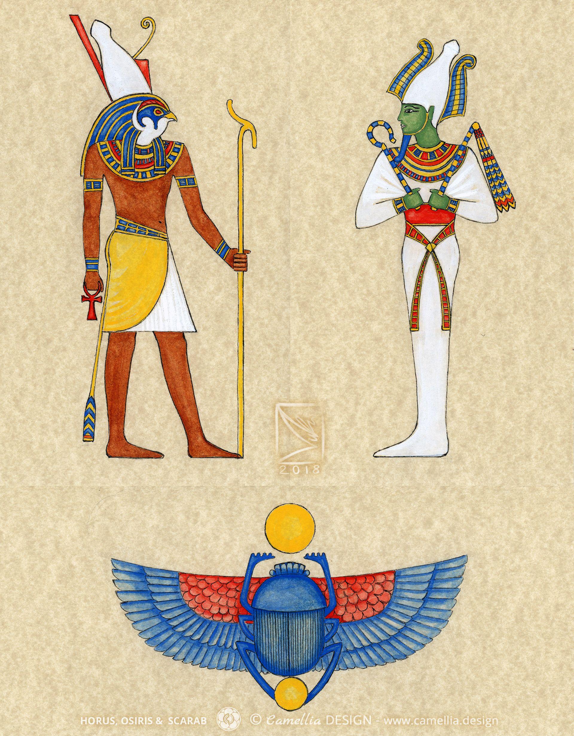 HORUS OSIRIS & SCARAB