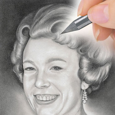 Graphite portrait commission from CAMELLIA DESIGN