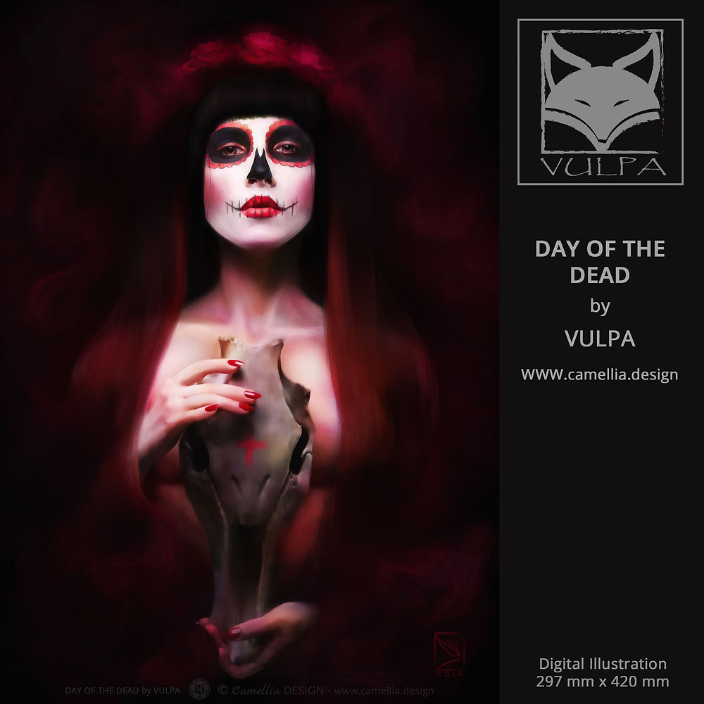 DAY OF THE DEAD | digital illustration by VULPA