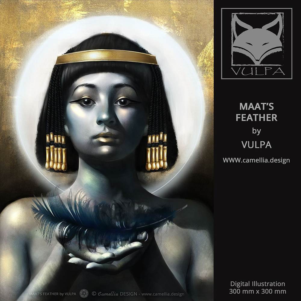 MAAT'S FEATHER | Digital illustration by VULPA