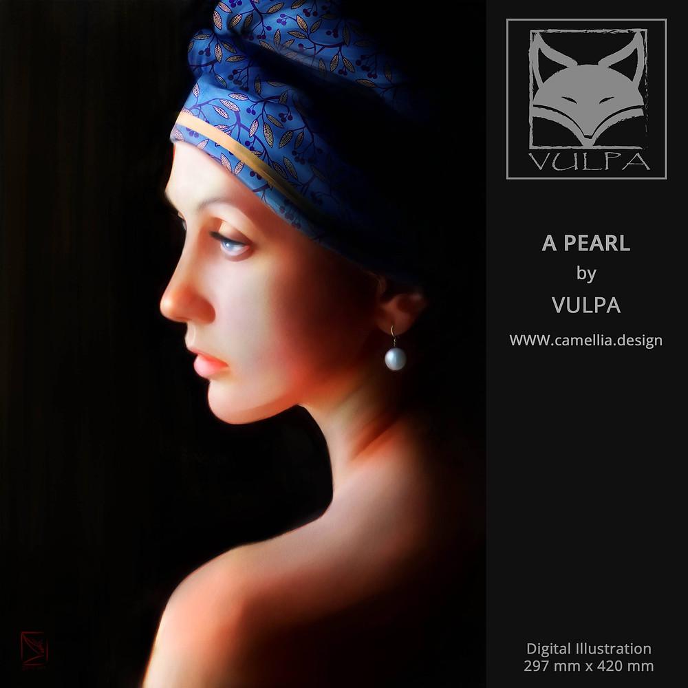 A PEARL | digital illustration | artist VULPA | Free Download