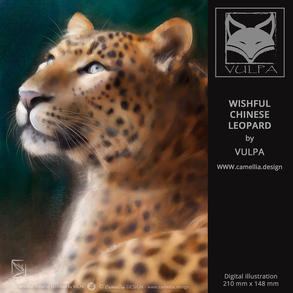 WISHFUL CHINESE LEOPARD | digital illustration by VULPA | Free download
