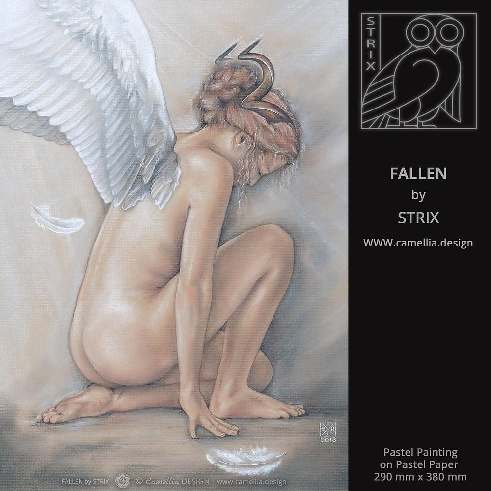 FALLEN | pastel painting | artist STRIX