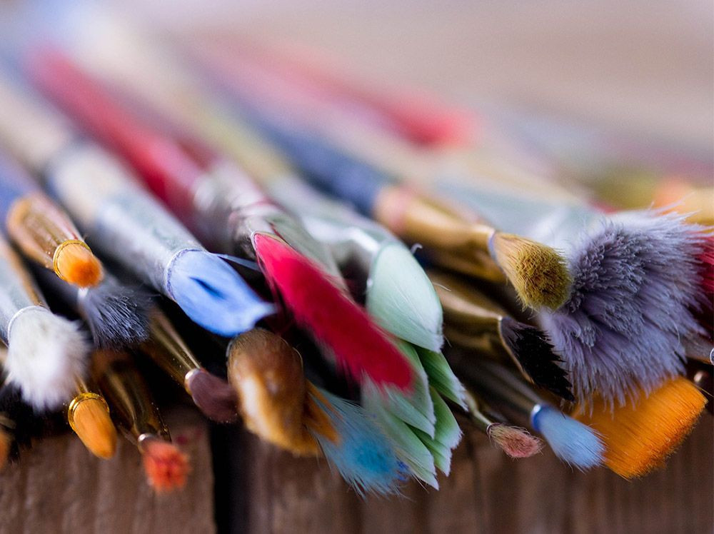 How to restore old artist's Paint Brushes