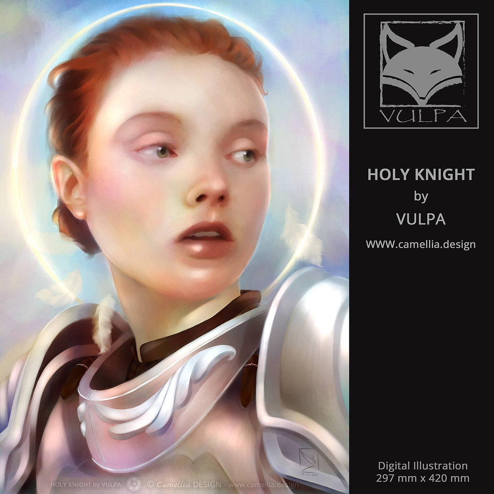 HOLY KNIGHT | digital illustration | artist VULPA